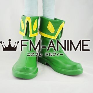 Cardcaptor Sakura Movie 2: The Sealed Card Syaoran Li Cosplay Shoes Boots (Green)