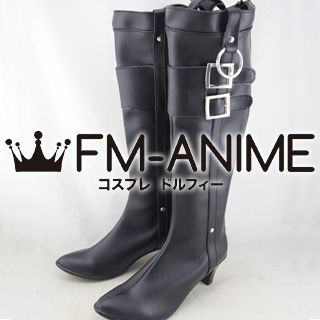 Danganronpa: Trigger Happy Havoc Kyoko Kirigiri Cosplay Shoes Boots (Black, Game Version)
