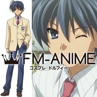 Fm Anime Clannad Tomoya Okazaki Male School Uniform Cosplay Costume