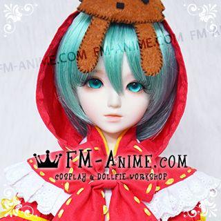 Short Lake Green Vocaloid Hatsune Miku Cosplay BJD Dolls Wig