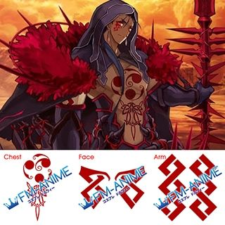 Fate/Grand Order Cu Chulainn Alter Berserker Cosplay Tattoo Stickers