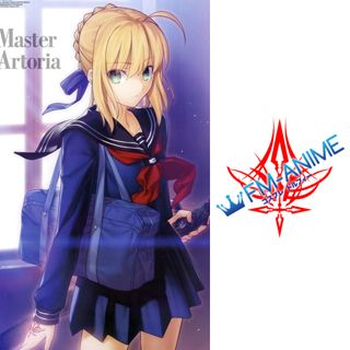 Fate/Zero Master Artoria Saber Cosplay Tattoo Stickers
