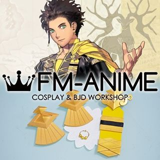 Fire Emblem: Three Houses Claude Von Riegan Military Uniform Earring Badge Gold Cosplay Accessories Prop