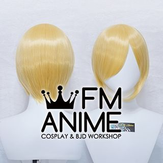 Short Straight Prince Gold Cosplay Wig #D0411