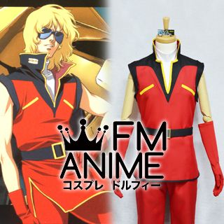Mobile Suit Gundam AGE Char Aznable Uniform Cos Clothes Cosplay Costume////