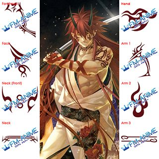 Hiiro no Kakera Takuma Onizaki Cosplay Tattoo Stickers