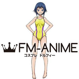 Keijo!!!!!!!! Rin Rokudo Yellow Swimsuit Cosplay Costume