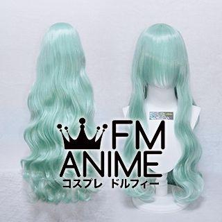 Medium Length Wavy Light Sea Green Cosplay Wig