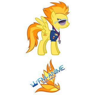 My Little Pony Spitfire Cutie Mark Cosplay Tattoo Stickers