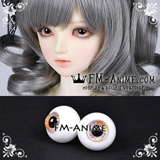16mm Neon Light Multicolor Spiral & Black Pupil BJD Dolls Glass Eyes Eyeballs Accessories