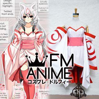 Okami Amaterasu Personified Kimono Cosplay Costume