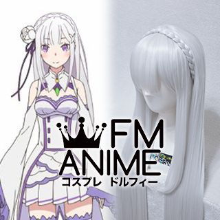 Re:ZERO -Starting Life in Another World- Emilia Cosplay Wig
