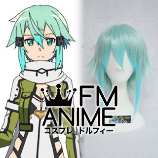 Sword Art Online II Sinon Blue c//c ear fashion cosplay wig Anime hair