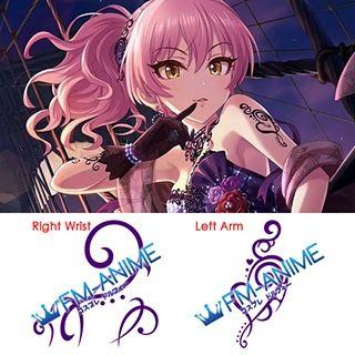 THE iDOLM@STER: Cinderella Girls Starlight Stage Mika Jougasaki Glorious★Glow Cosplay Tattoo Stickers