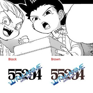 The Promised Neverland Thoma 55294 Number Cosplay Tattoo Stickers