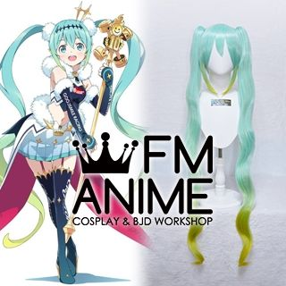 Vocaloid Hatsune Miku GT Project figma Racing Miku 2018 Ver. Cosplay Wig