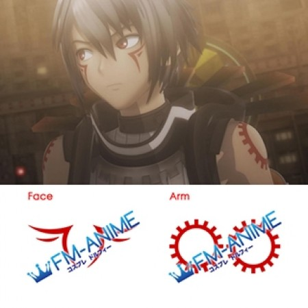 .hack//G.U. Haseo Xth Form Cosplay Tattoo Stickers