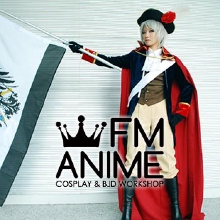 APH Axis Powers Hetalia Prussia Navy Blue Anime Uniform Cosplay Costume Full Set