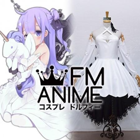 Azur Lane Unicorn Black White Dress Cosplay Costume