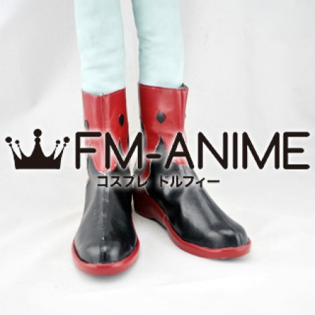 Guilty Crown Inori Yuzuriha Cosplay Shoes Boots (Red)