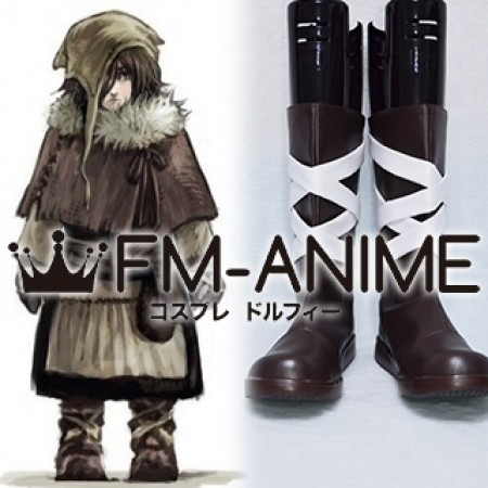 Dark Souls 2 Emerald Herald Child Cosplay Shoes Boots