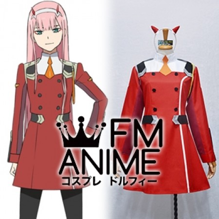 DARLING in the FRANXX Code002 Zero Two 9'℩ Uniform Cosplay Costume