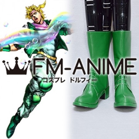 JoJo's Bizarre Adventure Caesar Anthonio Zeppeli Green Cosplay Shoes Boots