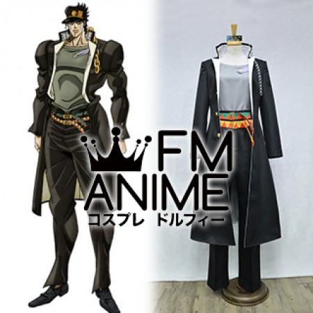 JoJo's Bizarre Adventure Part 3 Stardust Crusaders Jotaro Kujo Cosplay Costume (Male M)
