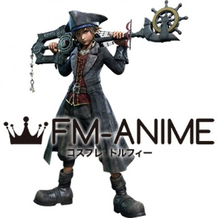 Kingdom Hearts III 3 Sora Pirates of the Caribbean Version Cosplay Costume