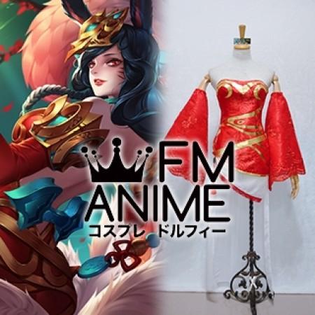 League of Legends Jade Princess Ahri Cosplay Costume