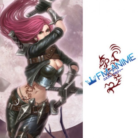 League of Legends Katarina Classic Skin Cosplay Tattoo Stickers