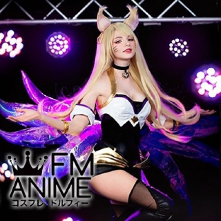 League of Legends K/DA Ahri Virtual K-pop Band Cosplay Costume