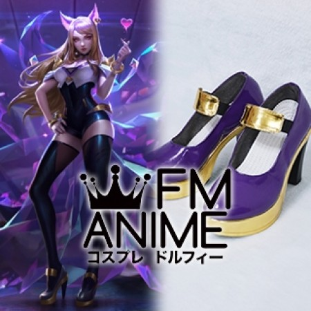 League of Legends K/DA Ahri Virtual K-pop Band Cosplay Shoes