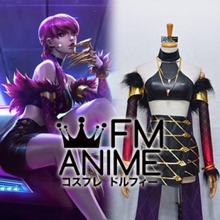 League of Legends K/DA Evelynn Virtual K-pop Band Cosplay Costume (Female M)