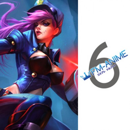 League Of Legends Vi Officer Skin Cosplay Tattoo Stickers