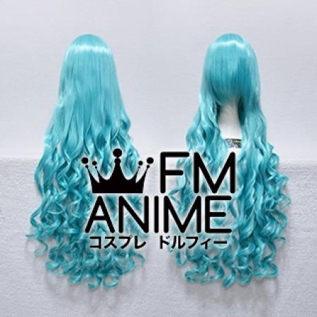 Long Length Wavy Mixed Blue Cosplay Wig