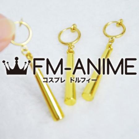Hoozuki no Reitetsu Dakki / One Piece Roronoa Zoro Matel Earrings Cosplay