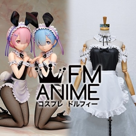 Re:ZERO -Starting Life in Another World- Ram & Rem Figure Bunny Ver. Cosplay Costume