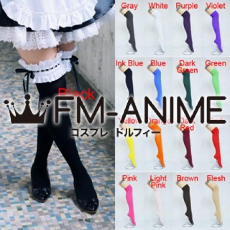 f7af985b20b90 Ladies Women Girls Uniform Fashion Cosplay Velvet Lace Over Knee Thigh High  Socks (17 Colors) Free Shipping