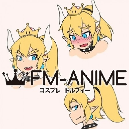 Super Mario Bowsette Koopa-hime Cosplay Wig