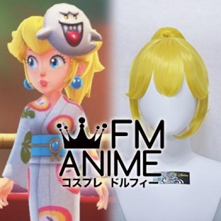 Super Mario Odyssey Princess Peach Wedding Kimono Cosplay Wig