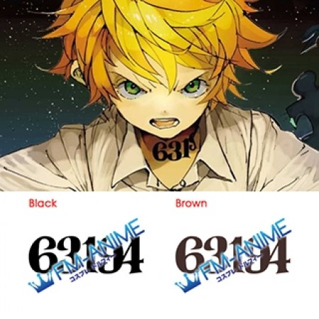 The Promised Neverland Emma 63194 Number Cosplay Tattoo Stickers