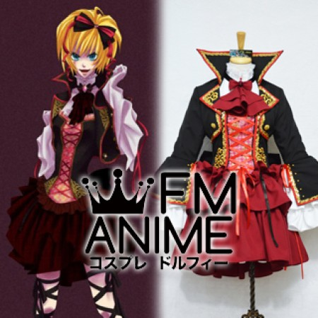 Vocaloid Kagamine Rin Sandplay Singing of the Dragon Cosplay Costume