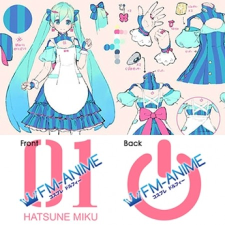 Vocaloid Living with Hatsune Miku Project Gatebox Cosplay Tattoo Stickers