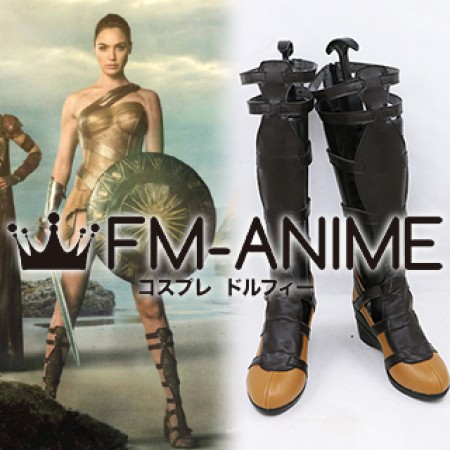 Wonder Woman (DC 2017 film) Diana Princess Cosplay Shoes Boots