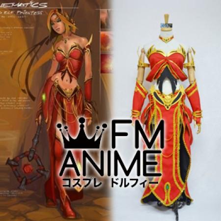 World of Warcraft Blood Elf Priest Cosplay Costume