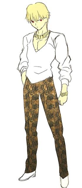 fatezero gilgamesh archer casual cosplay costume fate