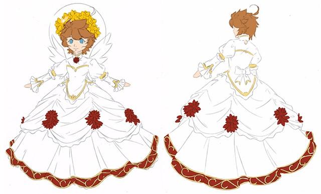 Kid Icarus Super Smash Bros 4 Pit Self Made Design White Dress Cosplay Costume