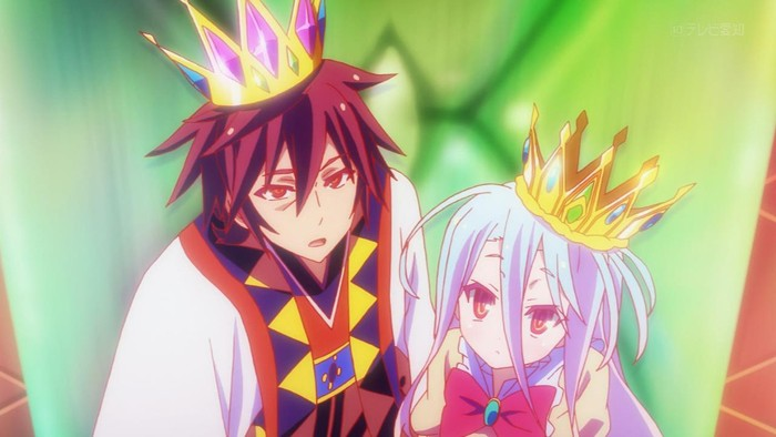 Display] No Game No Life Sora & Shiro Crown Cosplay