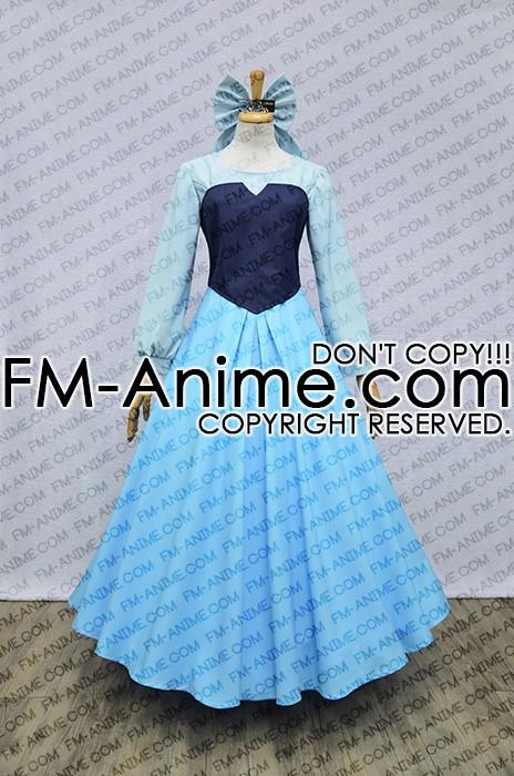 & The Little Mermaid (Disney) Ariel Blue Dress Cosplay Costume